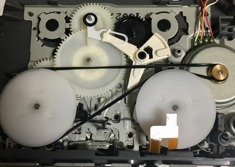 SONY WM-MV1 カセットウォークマン 修理 分解 ベルト交換