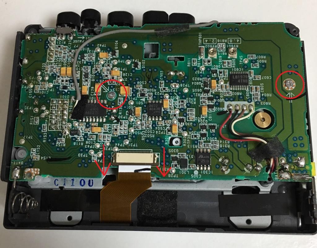 SONY TCM-400 修理 ベルト交換 分解