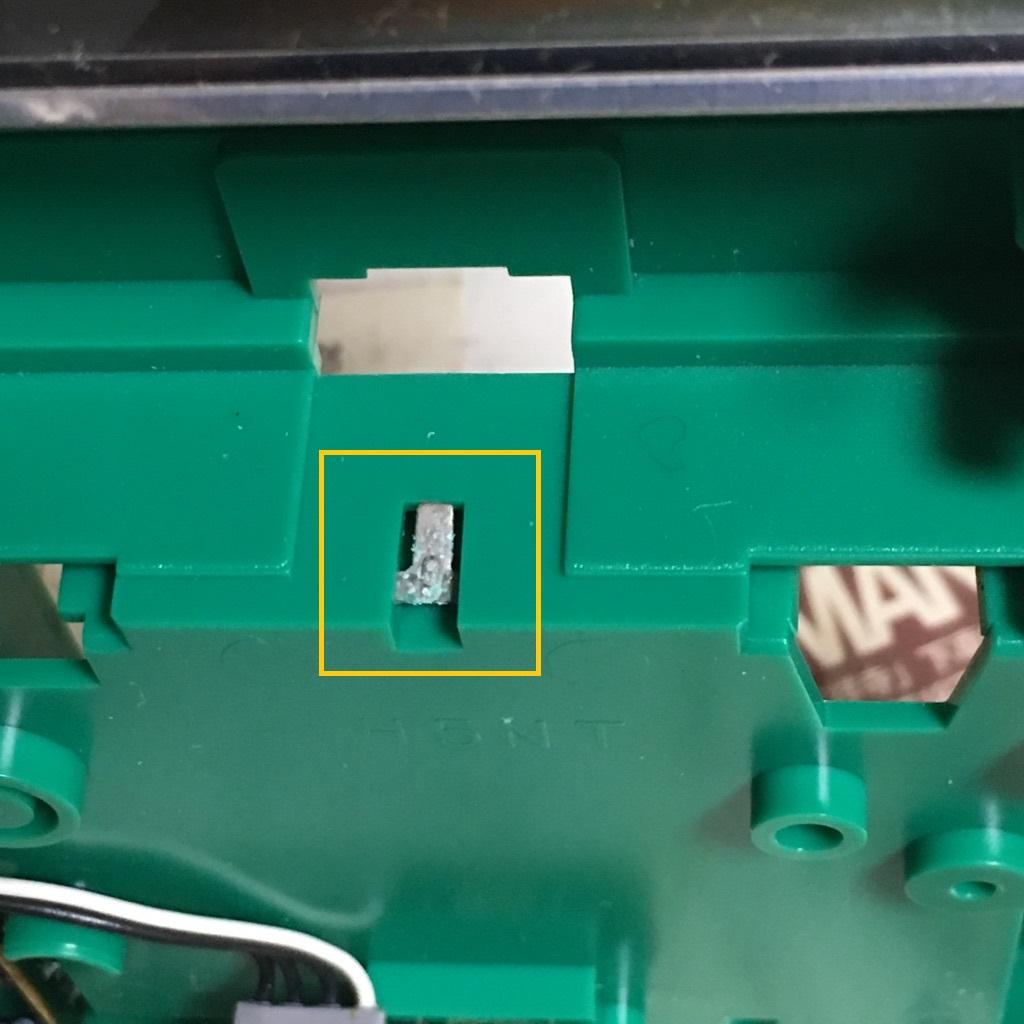 ゲームボーイの上部の電池端子