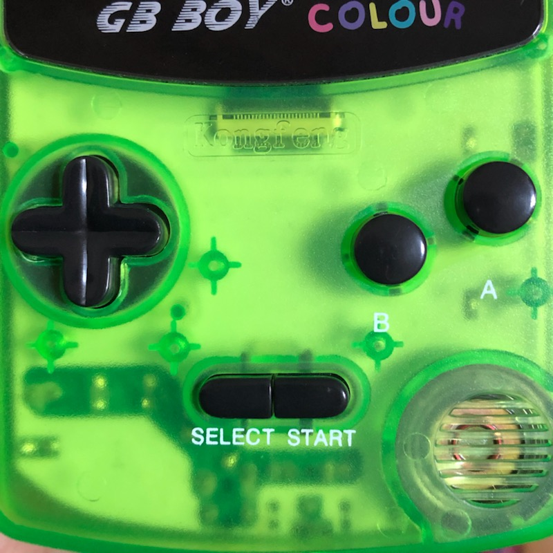 GB BOY COLOURのボタン