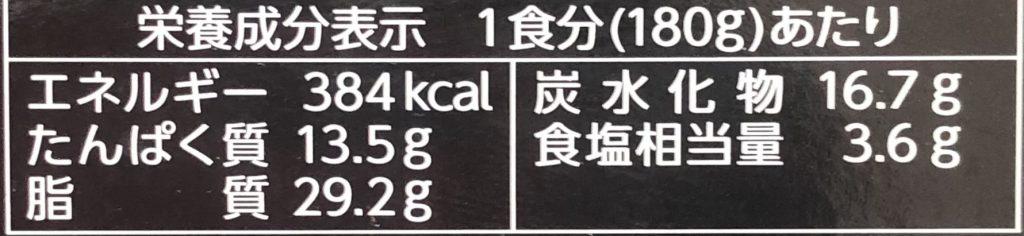 第2回神田カレーグランプリ優勝 マンダラのビーフマサラカレー レトルトの栄養成分